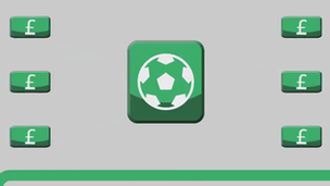 Football app with in-app purchases