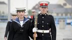 Sian and James McGilton of the TS Warrior Sea Cadets