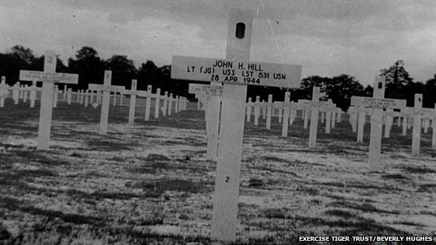 The temporary graves of the Exercise Tiger casualties