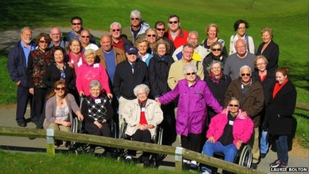 Survivors of Exercise Tiger at the 60th anniversary