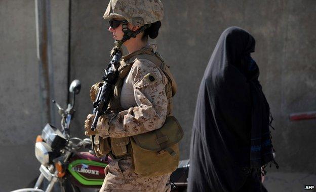 US soldier in Helmand