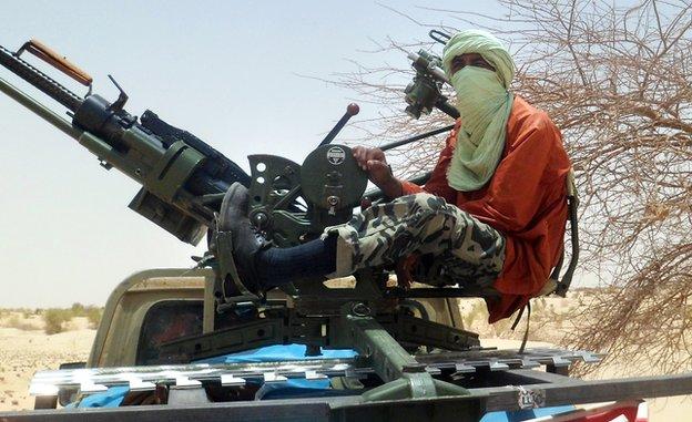 An Islamist rebel in Mali