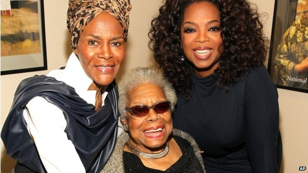 Cicely Tyson, Maya Angelou and Oprah Winfrey