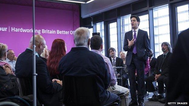 Ed Miliband at a post-elections Q&A