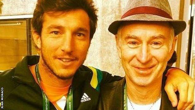 Juan Monaco and John McEnroe