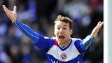 Cardiff City striker Adam Le Fondre in action for Reading