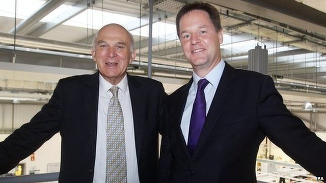 Vince Cable (left) and Nick Clegg