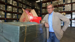 Peter Taylor in a German cigarette factory