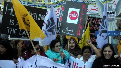 Honour killing protest