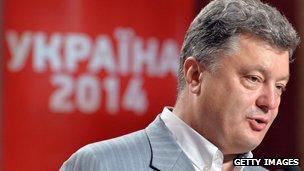 Ukrainian president-elect Petro Poroshenko