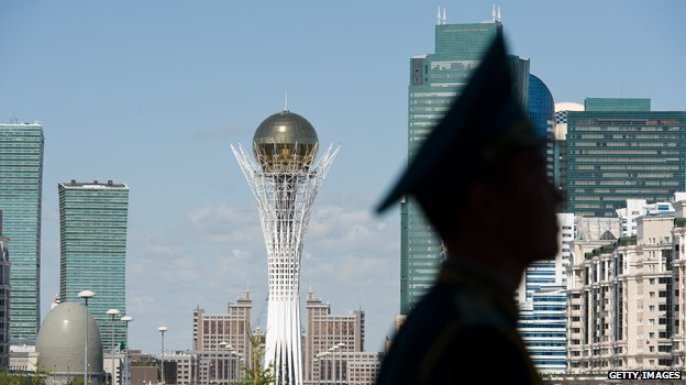 Skyline of the Kazakh capital Astana