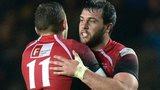 London Welsh celebrate against Bristol