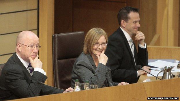 Tricia Marwick in the Scottish Parliament