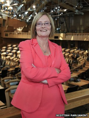 Tricia Marwick in the chamber