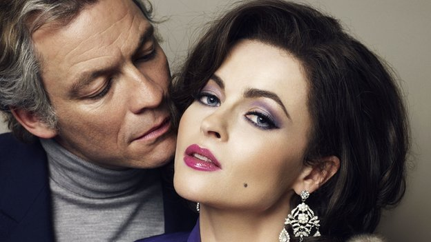 Dominic West and Helena Bonham Carter in Burton & Taylor