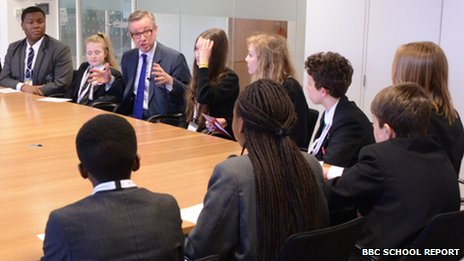 Michael Gove and School Reporters