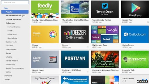 Screengrab of Google Chrome store