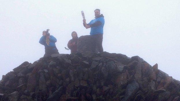 QBR on Snowdon Summit