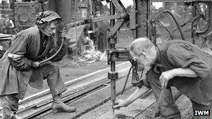 Woman worker at Swan Hunter yard