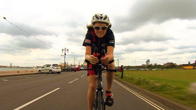 Lauren Steadman training for triathlon