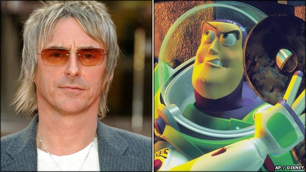 Paul Weller and Buzz Lightyear