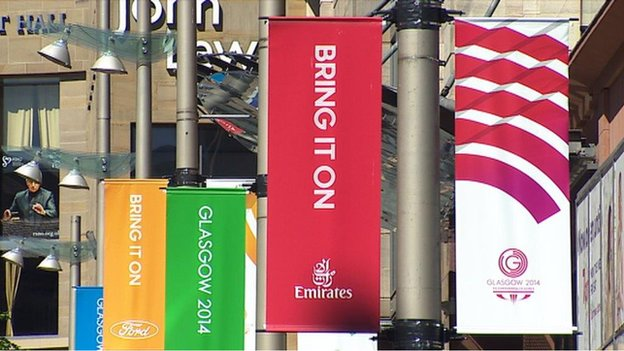 Games banners in Glasgow