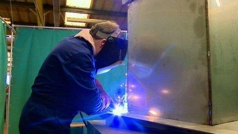 Welder working at Ductform