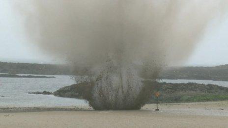 The bomb was detonated