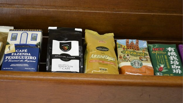 coffee on shelf
