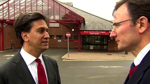 Ed Miliband and James Landale