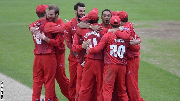 Lancashire celebrate