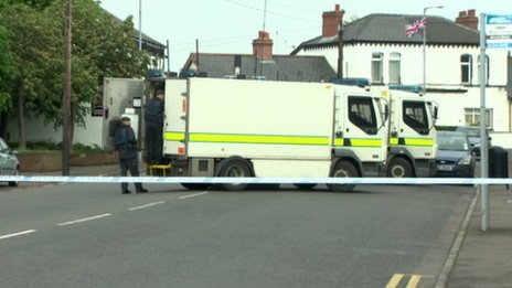 Bomb experts at Lisburn alert