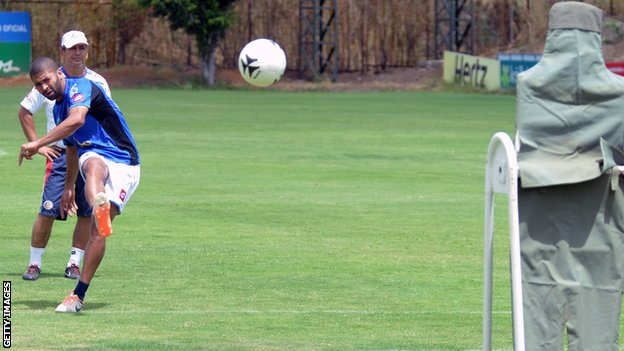 Costa Rica forward Alvaro Saborio