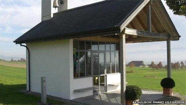 Katholische Pfarrei Hildisrieden - one of the churches robbed by the elderly couple