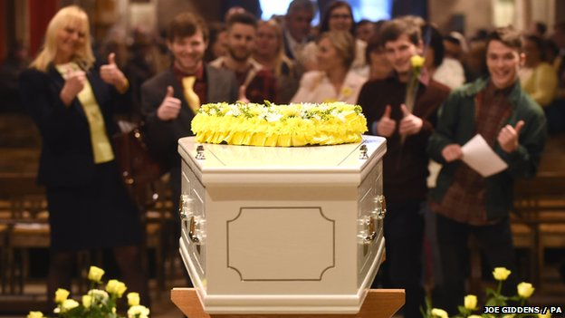 Stephen Sutton's coffin