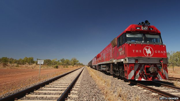 The Ghan train engine