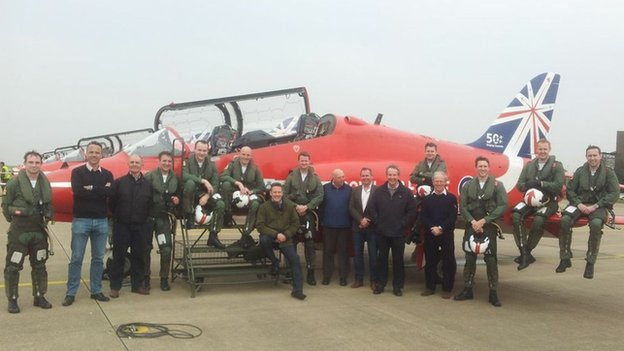 Red Arrows with former team members