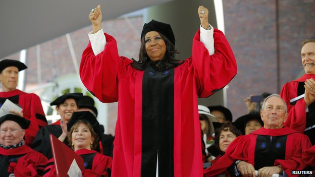 Aretha Franklin at Harvard