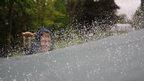 Scott flicks water