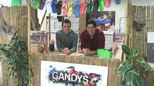 Paul and Rob Forkan of Gandys Flip Flops