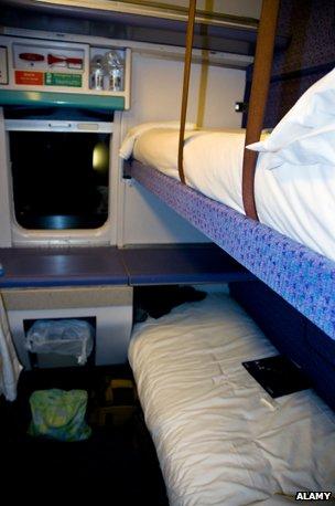 Cabin on the Caledonian Sleeper