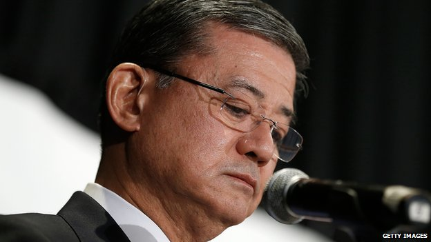 Eric Shinseki speaks at a conference in Washington, DC on 30 May, 2014.