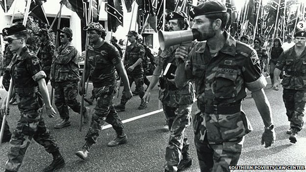 Miller marches with right-wing extremists
