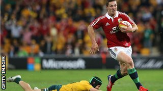 George North scores for the Lions