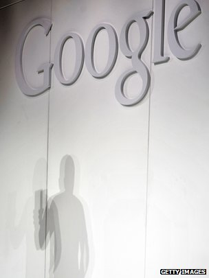 Google logo at presentation