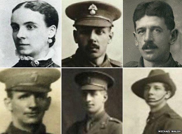 Beechey family (back) Amy, Charles, Barnard (front) Leonard, Frank, Harold