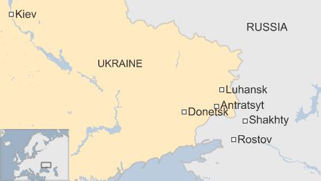 边境城市里,来自附近俄罗斯邻近地区的哥萨克武装
