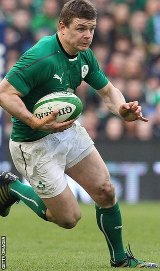 Brian O'Driscoll is the most capped player in the history of rugby union