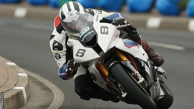 Michael Dunlop produced the fastest Superbike practice lap of the week in the Isle of Man on Friday night