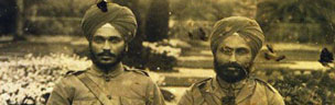 Maghar Singh (left) and senior officer, Dalip Singh of the Kings Own Central India Horse